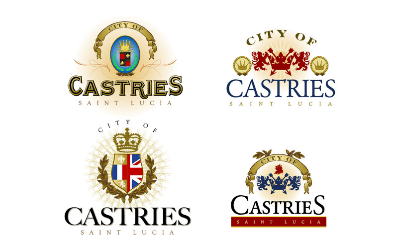 City Of Castries Logo Concepts